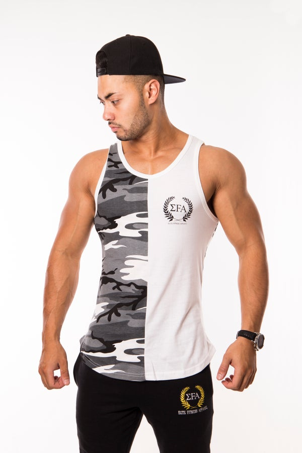 Elite Tank - Grey/Camo - Elite Fitness Apparel