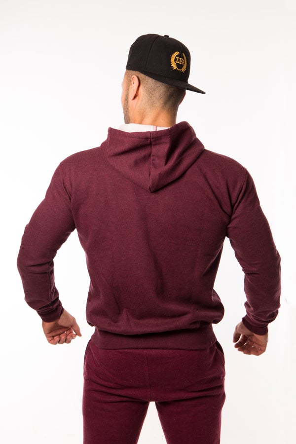 Titan Hoody - Maroon - Elite Fitness Apparel