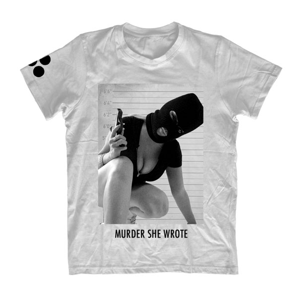 Image of MISS LADY PINKS MURDER SHE WROTE - WHITE T-SHIRT