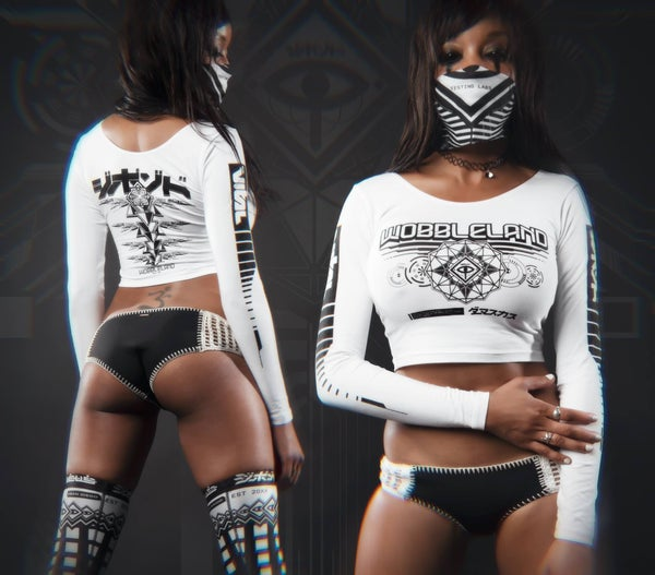 Image of Damascus x Wobbleland Crop Top