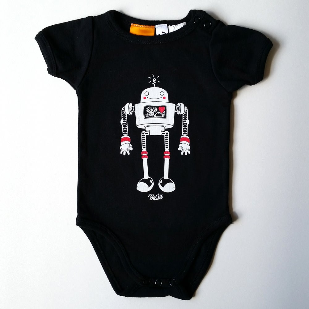 Image of 'Robot Love' 2-colour black romper