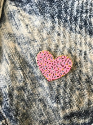 Image of Heart Sprinkles Enamel Pin