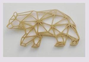 Image of Médaillon tendance origami: ours et trophée