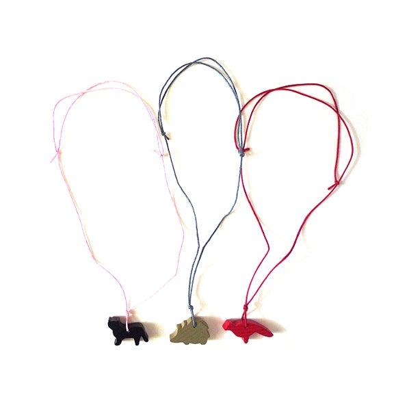 Image of Halskette und Anhänger von COPAINCOPINE - Vogel