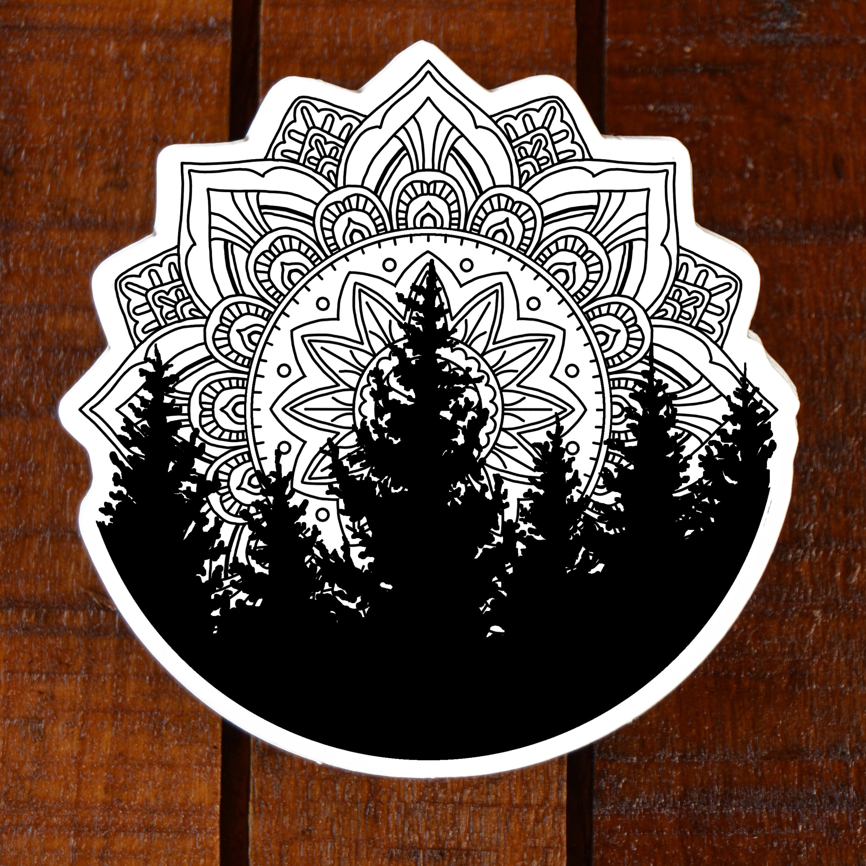 tree mandala sticker    tyler hays illustration