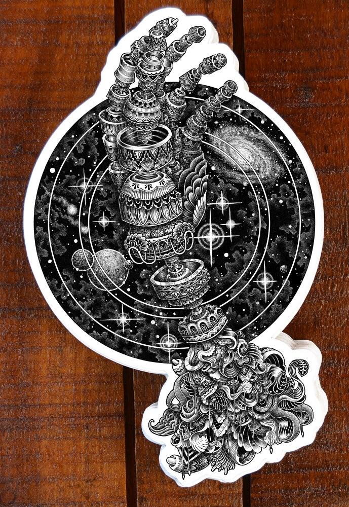 Image of Cosmic Hand Sticker