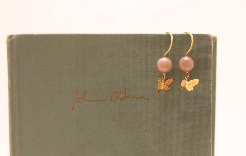 Image of Brass Butterfly Earrings
