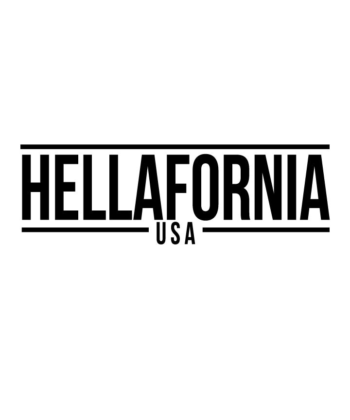 "Image of 12"" Hellafornia USA Sticker (8 Color Selection)"