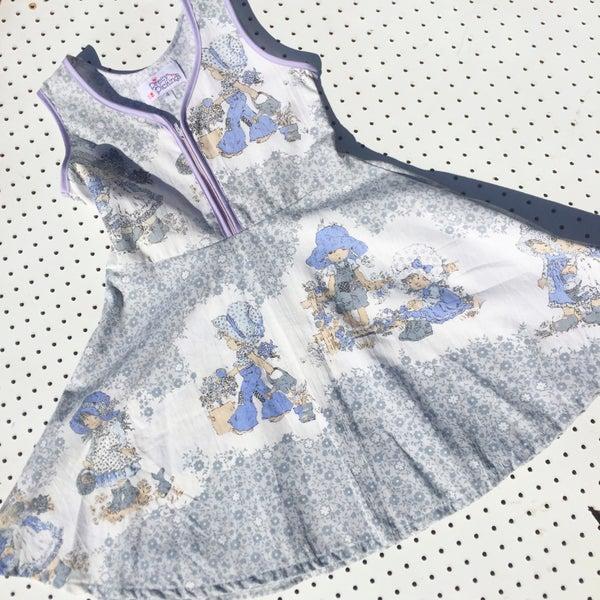 Image of Size 4 'vintage twirl' dress - grey floral Holly Hobbie