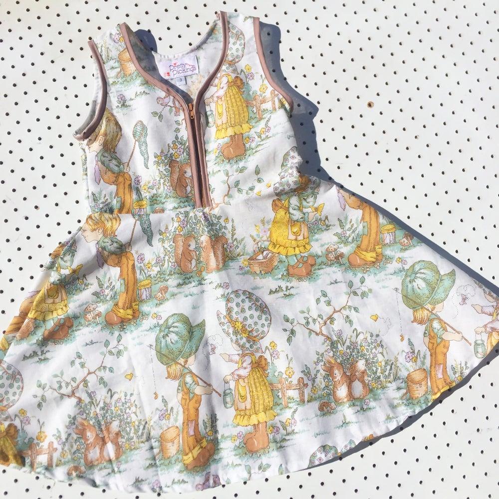 Image of Size 3 'vintage twirl' dress - squirrel garden