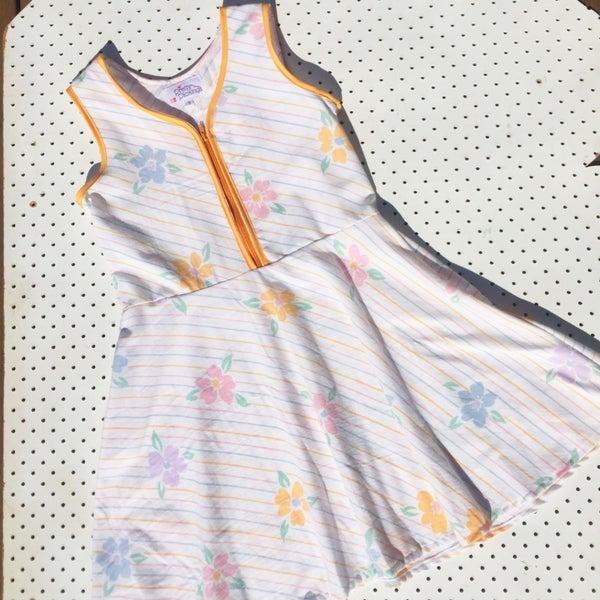 Image of Size 9 vintage twirl dress - pastel stripe