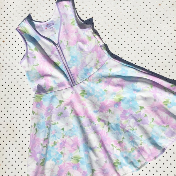 Image of Size 9 vintage twirl dress - lilac floral