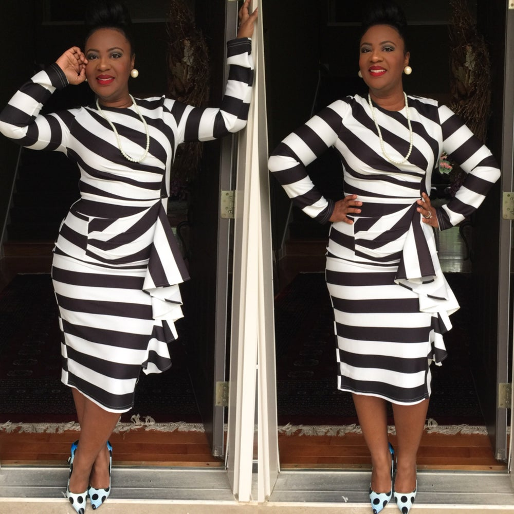 Image of Zebra dress