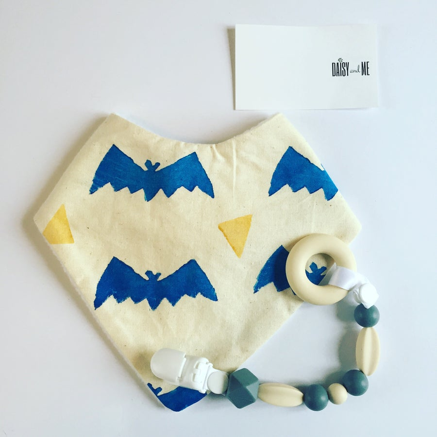 Image of Original Design Blue Bat Potato Print