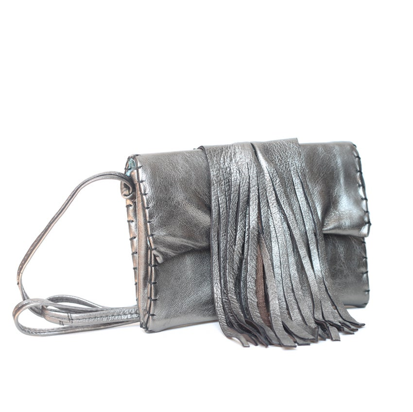 Image of Ebute Metta fringed clutch