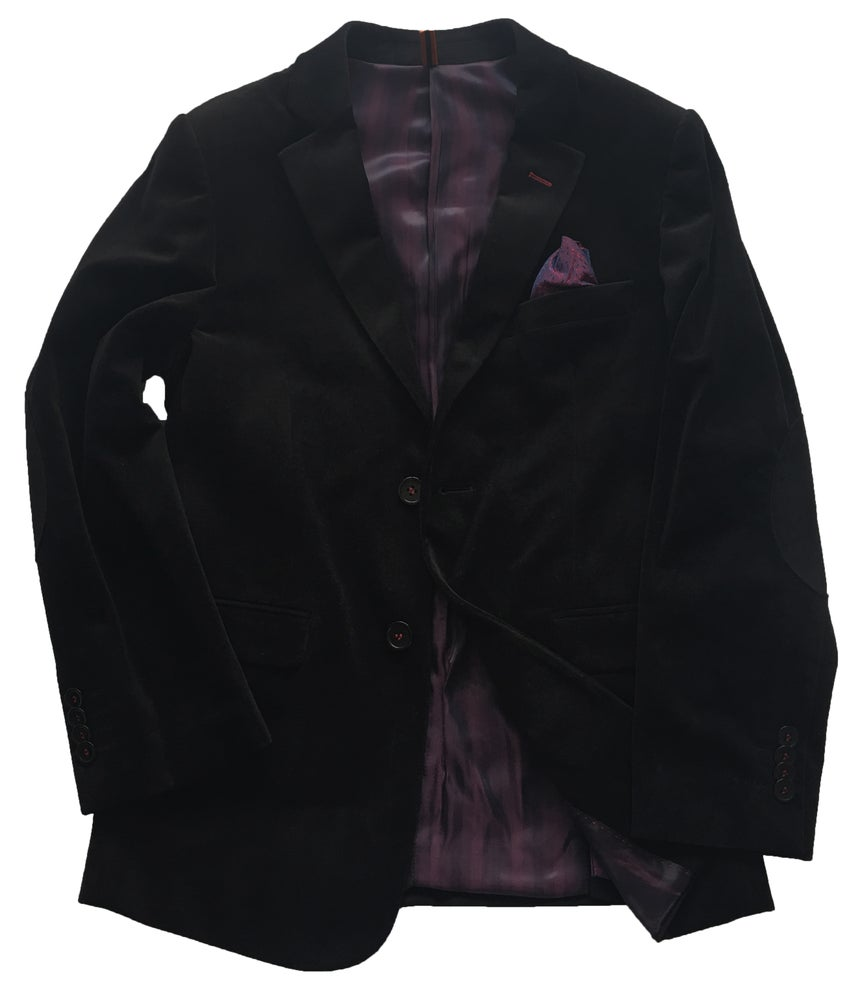 Image of Black Velvet Blazer
