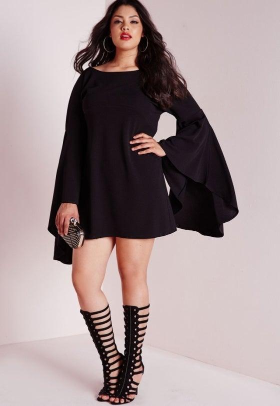 Image of Black Minis dress For Beautiful plus size ladies
