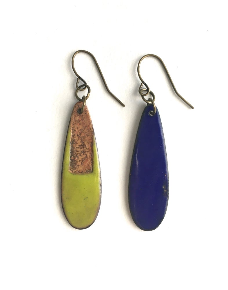 Image of Enamel Earrings