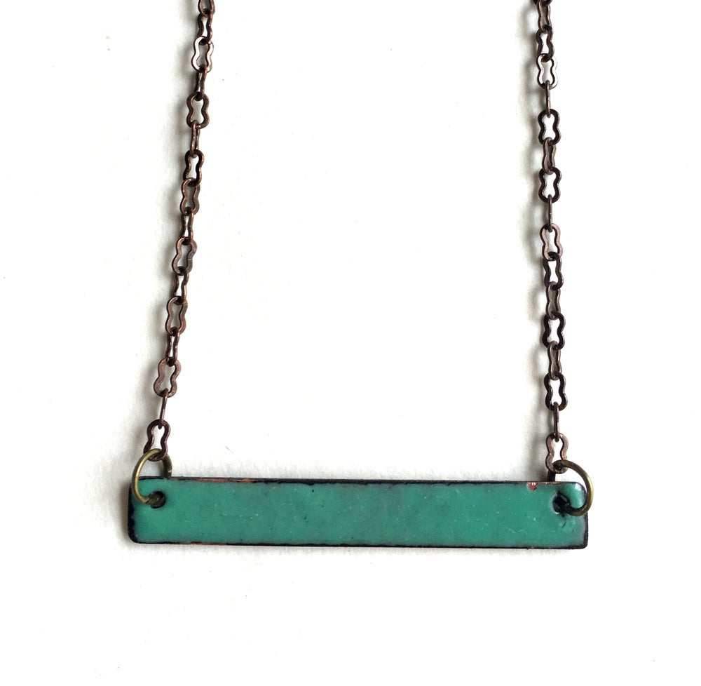 Image of White and Aqua Reversible Necklace