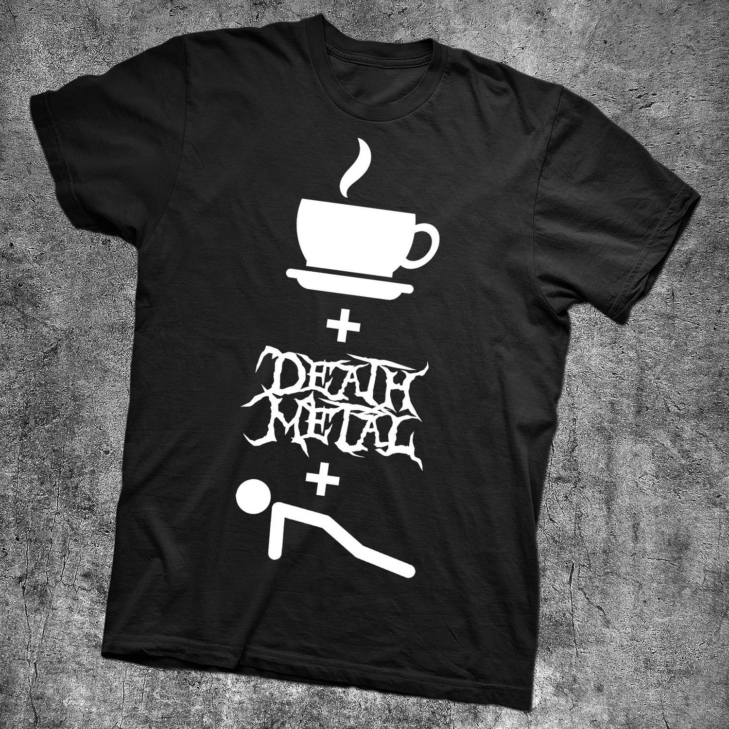Image of COFFEE DEATH METAL AND PUSH UPS - NEW BLACK