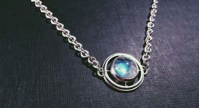 Image of Rainbow Moonstone Choker *one of a kind*