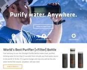 "Image of World's Best Purifier [+Filter] Bottle ""Grayl Ultralight"""