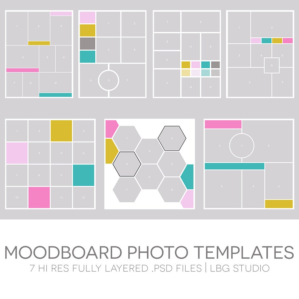 Image of Moodboard Photo Templates