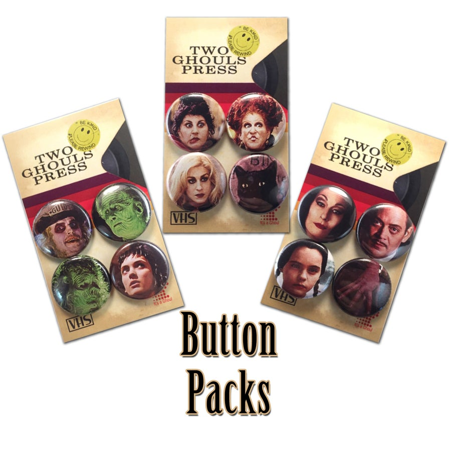Image of Be Kind, Rewind - Button Packs