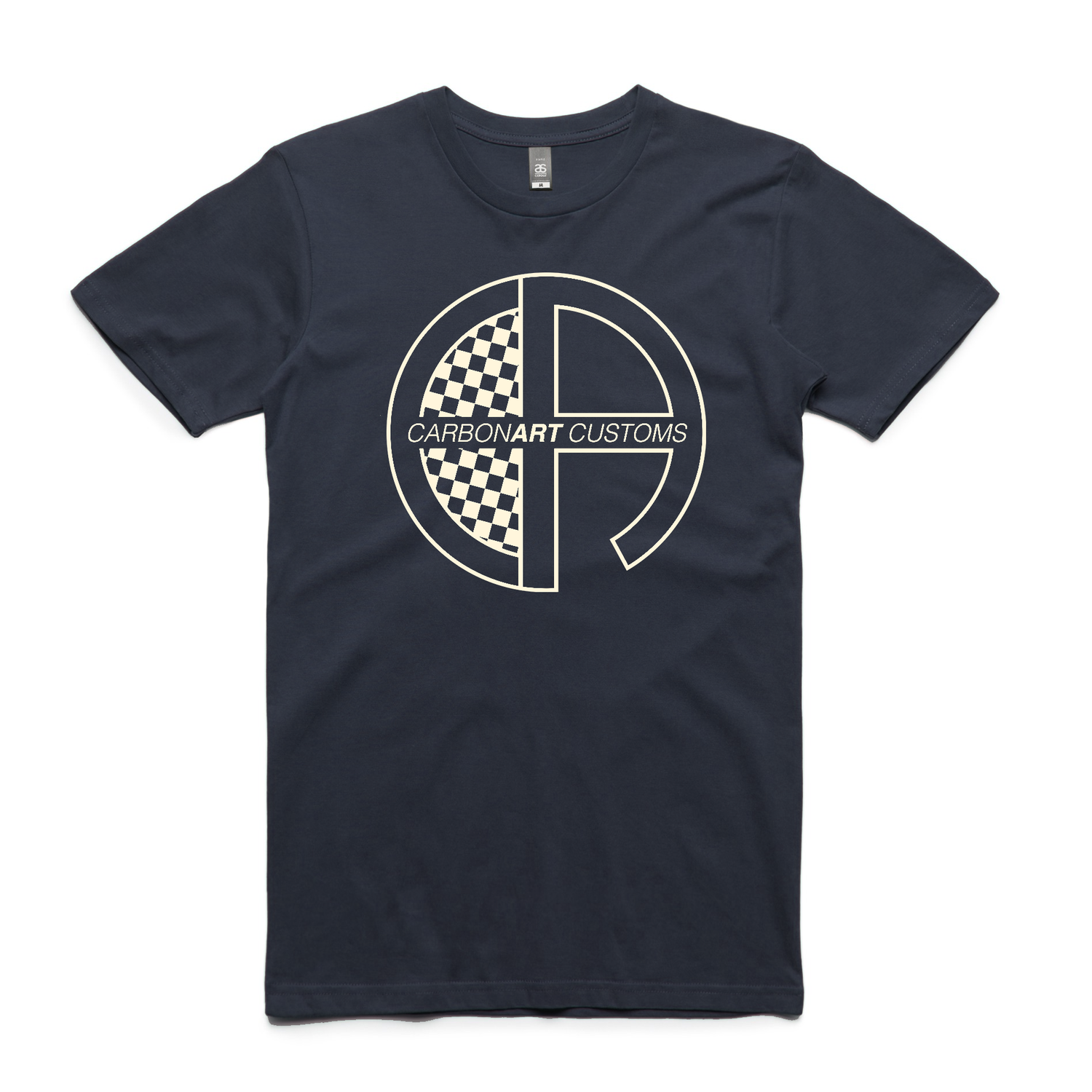 Image of CarbonArt Logo Mens Tee - Navy