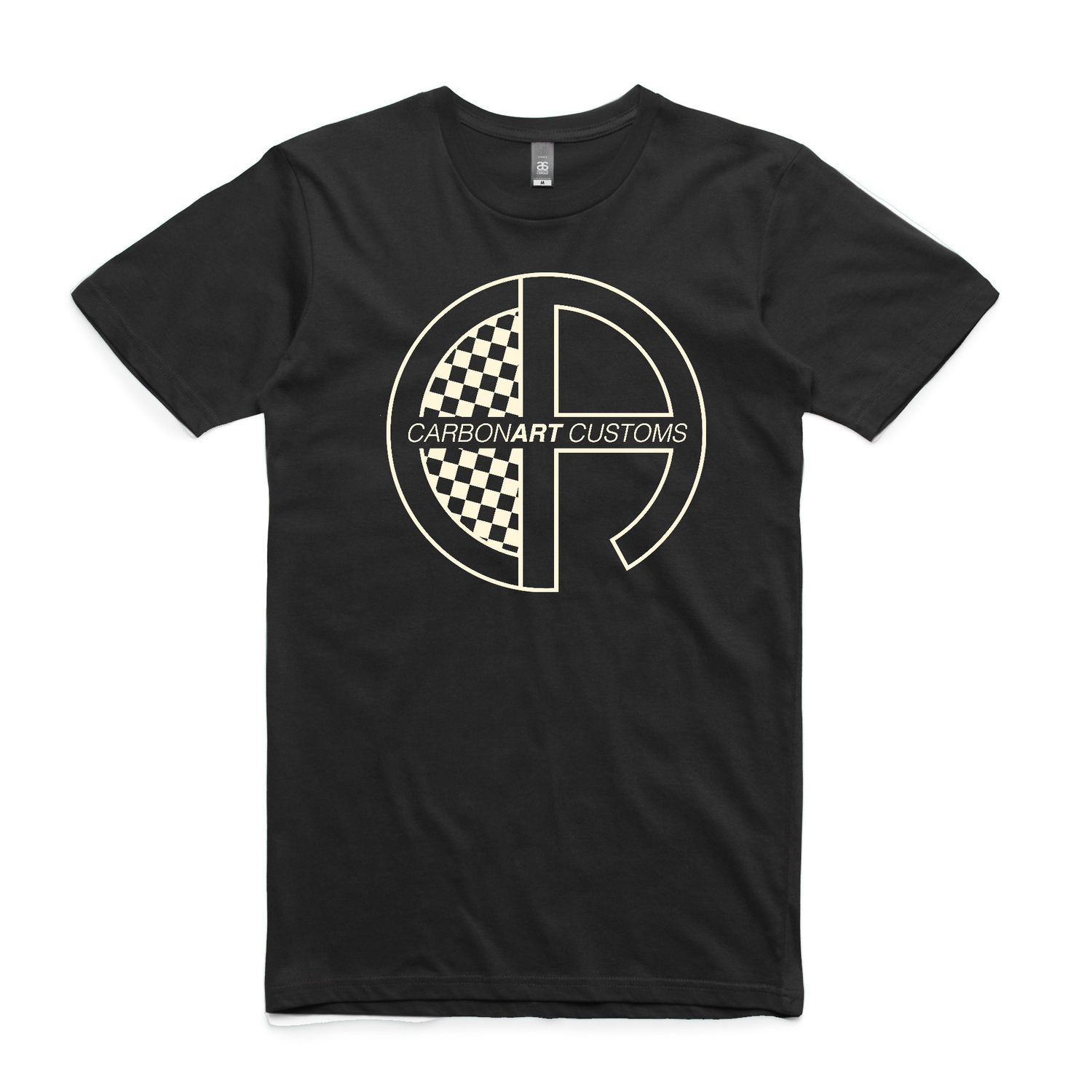 Image of CarbonArt Logo Mens Tee - Black