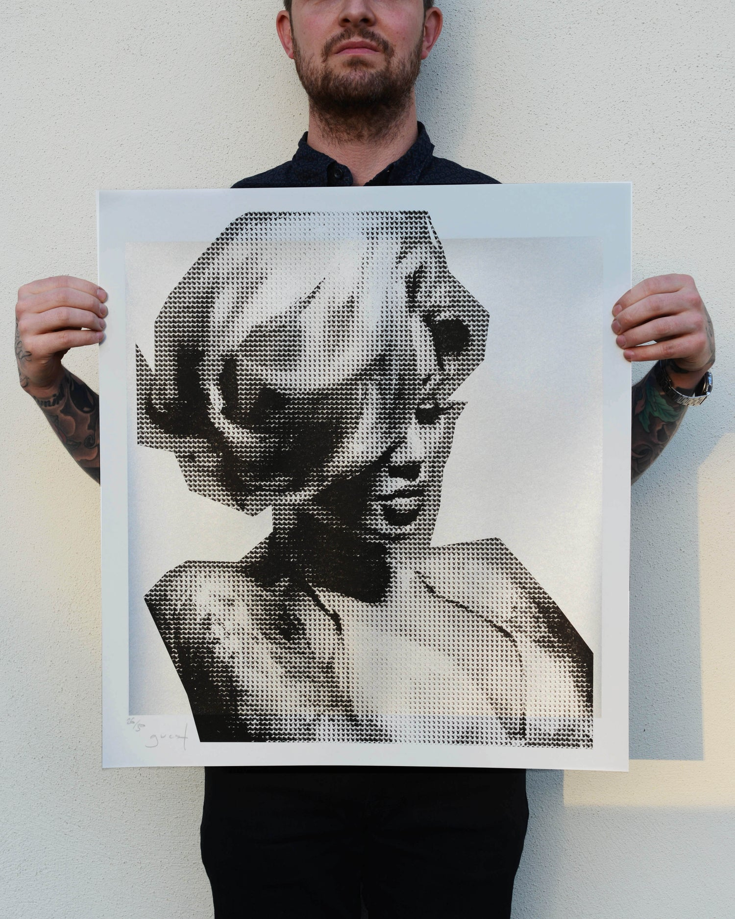 Image of Extremely Limited Hand Pulled Screen Print 'Becky Silver Edition'