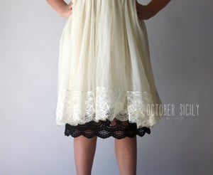 Image of Girls Full Slip Lace Dress Extender, Size 6-12 years