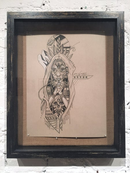 Image of MARKA 27 - ORIGINAL FRAMED DRAWING