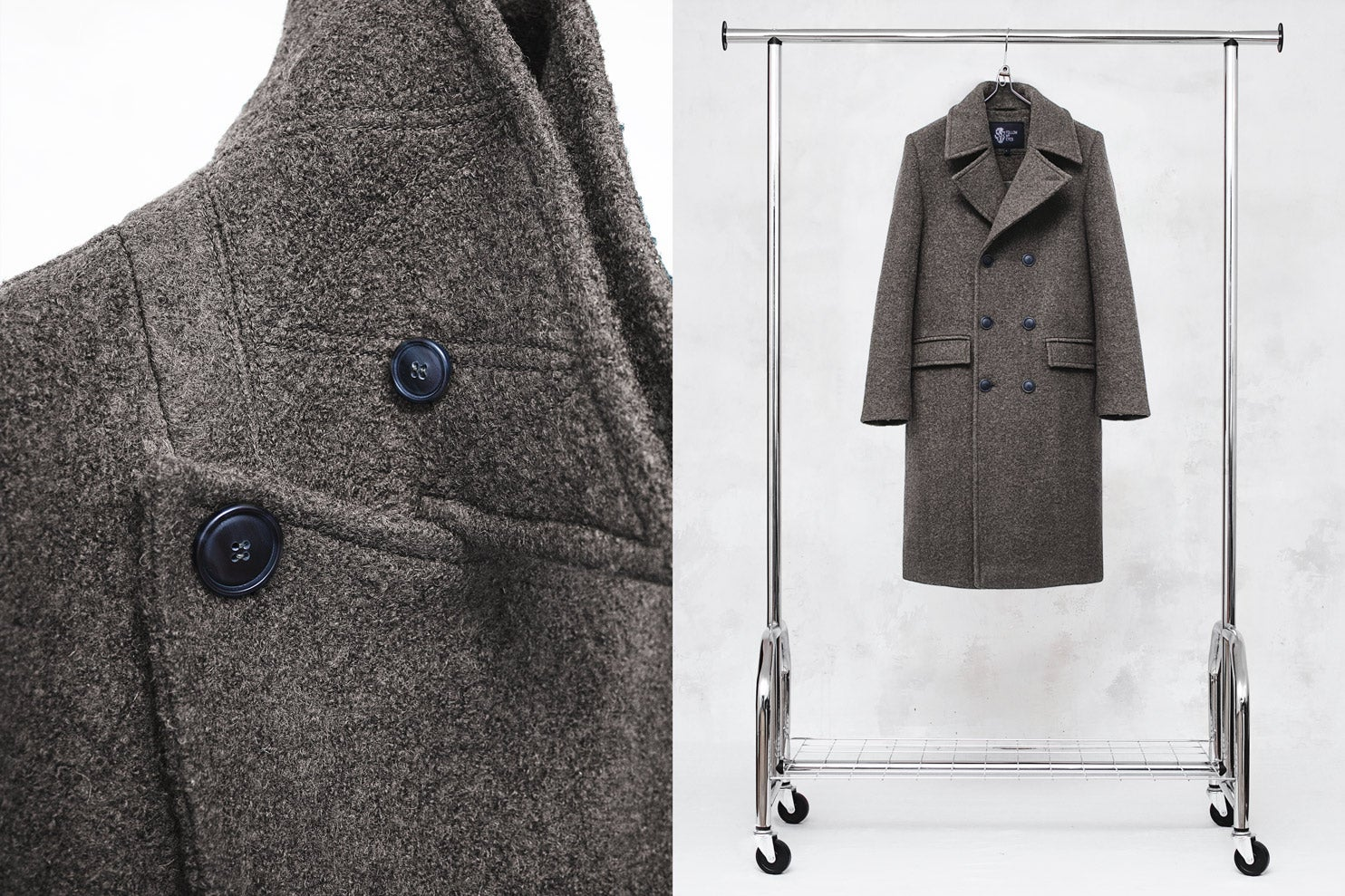Image of LIMITED EDITION | Taupe Wool-Blend Bouclé Overcoat