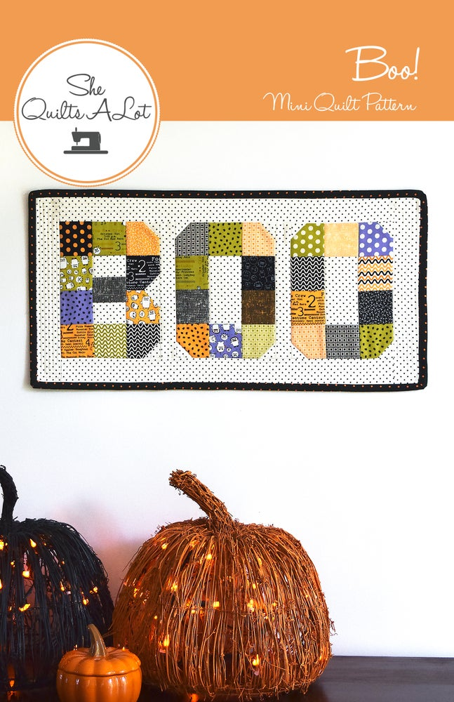 Image of Boo! Mini Quilt Paper Pattern