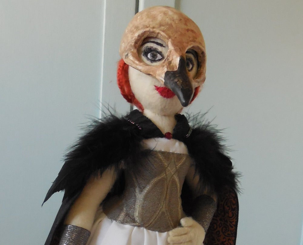 Image of Morrigan art doll