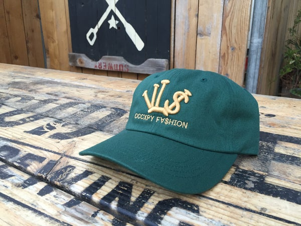 "Image of Forrest/Gold ""VL$"" OCCXPY Fx$hion Dad Hat"