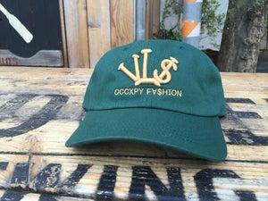 "Image of Forrest/Gold ""VL$"" OCCXPY Fx$hion Dad Hat"