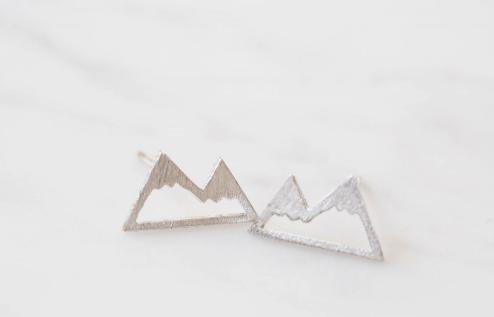 Image of Mountain Stud Earrings