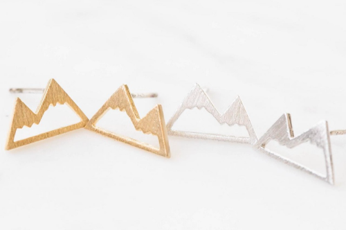 Image of Mountain Stud Earrings