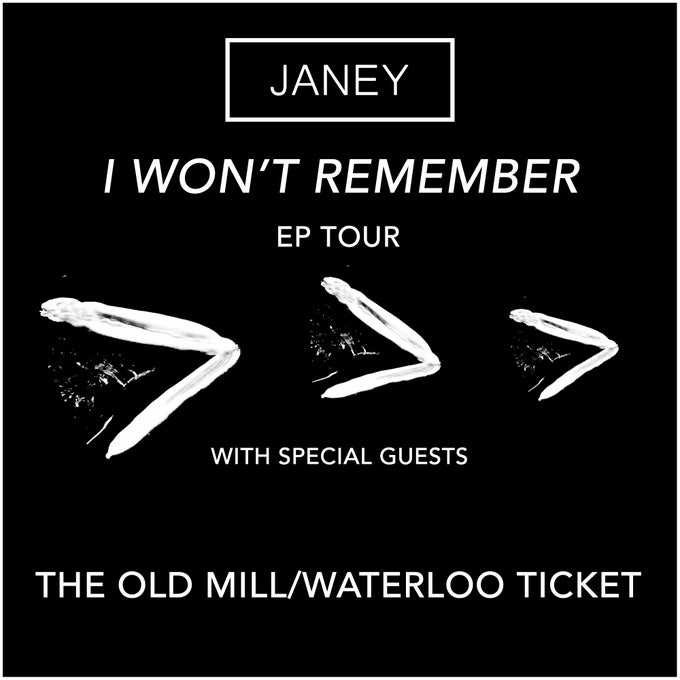 Image of TICKET - JANEY @ The Old Mill/28th October 2016