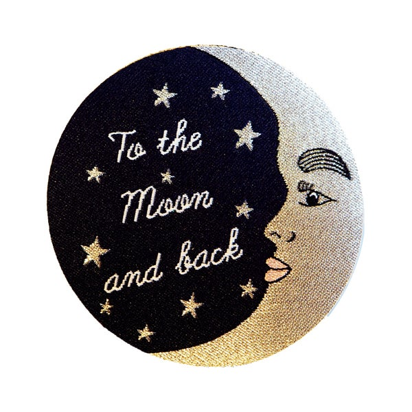 Image of To The Moon and Back Iron-on Patch