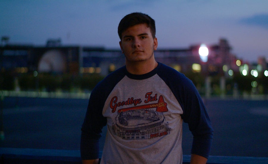 """Image of Limited Edition Turner Field Baseball Tee - """"Goodbye Ted"""" (NEW)"""