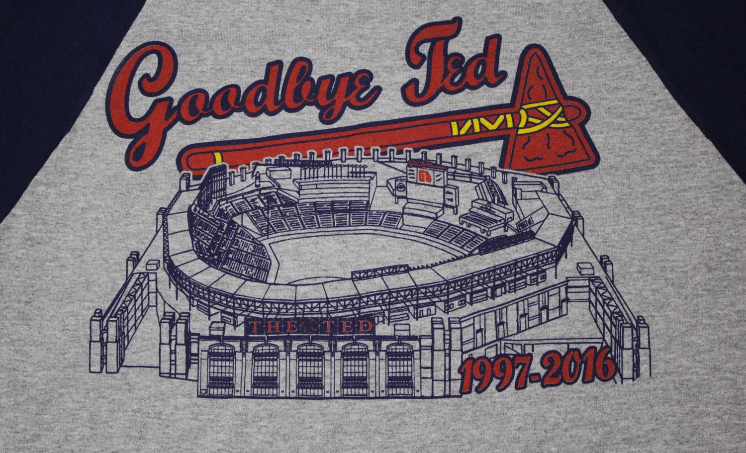 "Image of Limited Edition Turner Field Baseball Tee - ""Goodbye Ted"" (NEW)"