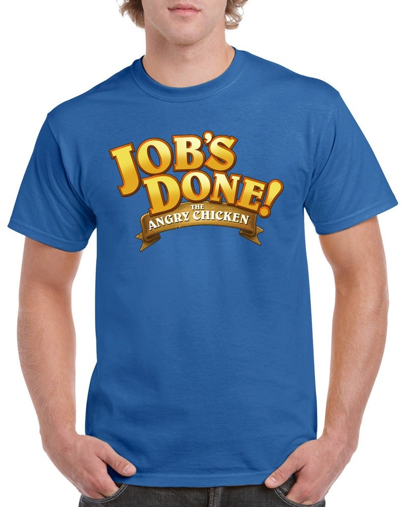 "Image of Angry Chicken ""Job's Done"" T-Shirt"