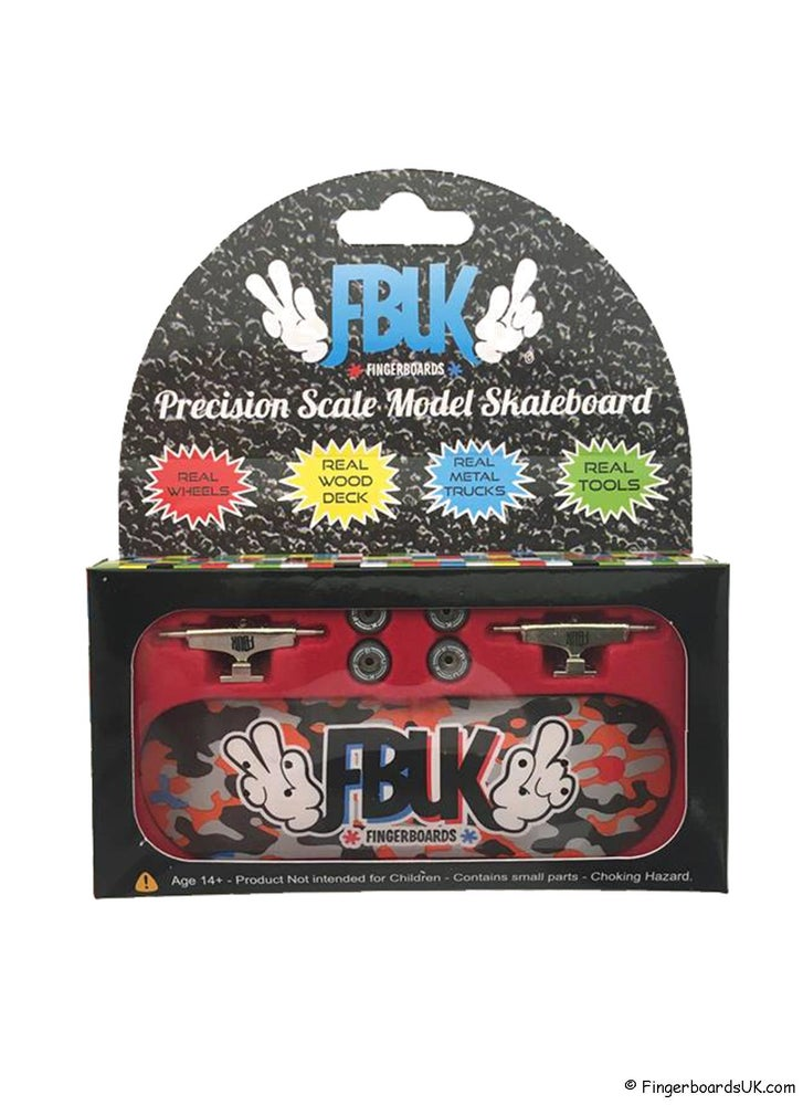 Image of FBUK Pro Graphic Fingerboard Setup - Camo