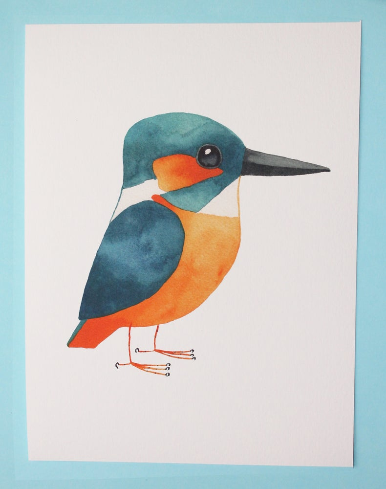 Image of Kingfisher print