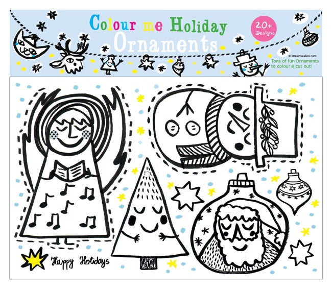 Image of Colour me Holiday Ornaments