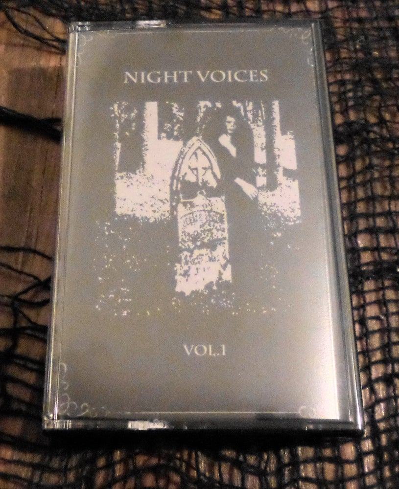 """Image of """"Night Voices"""" Volume 1 compilation cassette"""