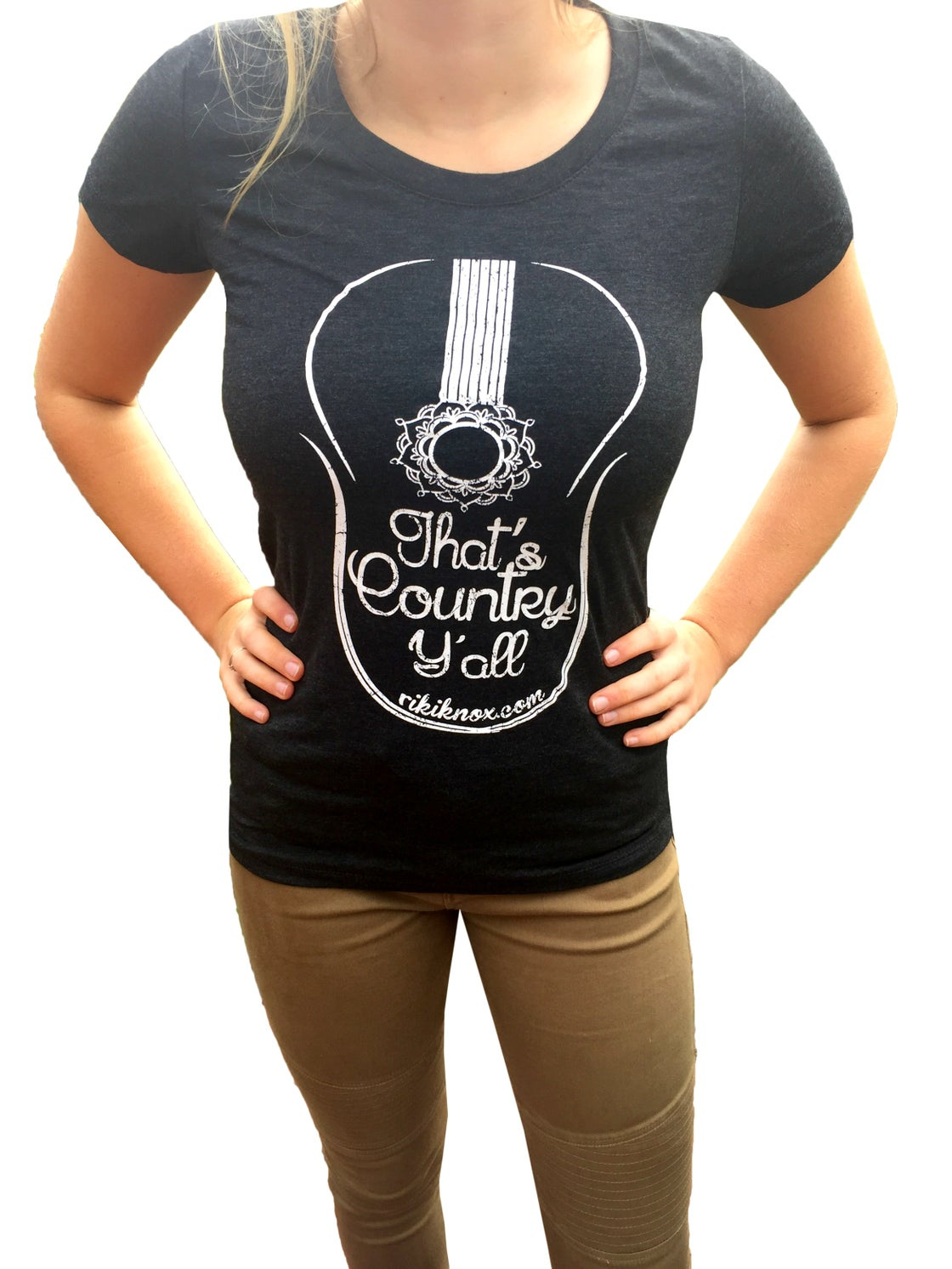 """Image of Ladies """"That's Country Y'all"""" Fitted Tee"""